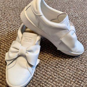 White Keds Bow Sneakers Women's 5.5/Girls 3.5